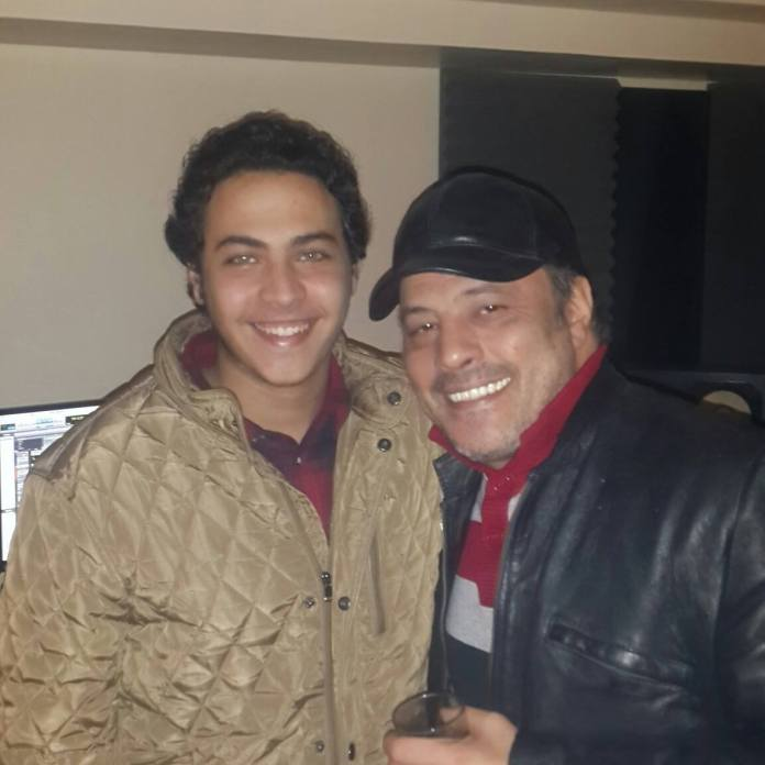Amr Abdel Jalil and his son