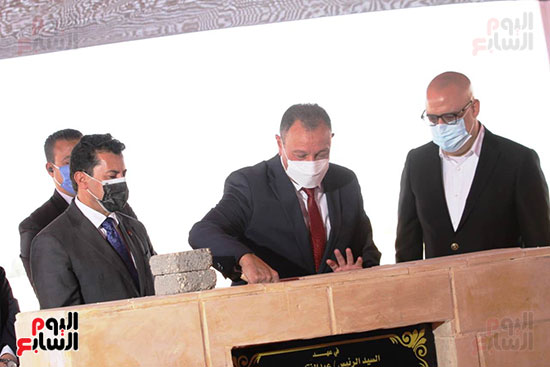 Ceremony laying the foundation stone for Al-Ahly Stadium (65)