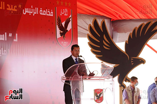 Ceremony for laying the cornerstone of Al-Ahly Stadium (62)