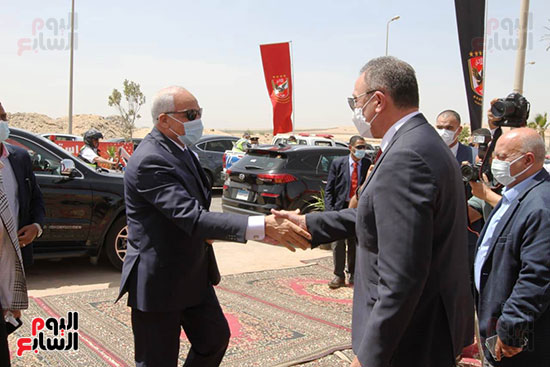 Ceremony laying the foundation stone for Al-Ahly Stadium (11)