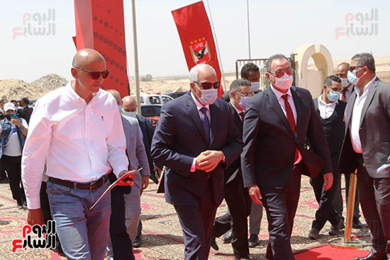 Ceremony laying the foundation stone for Al-Ahly Stadium (13)