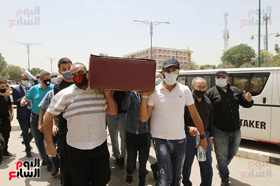 The funeral of the artist Maher Al-Attar