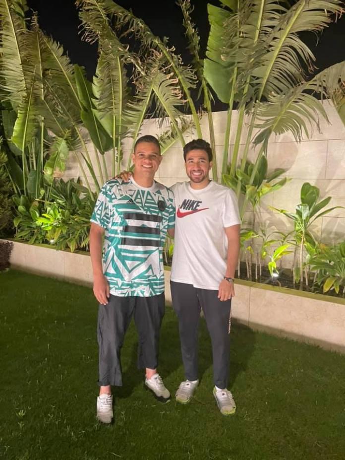 Trezeguet with Saad Samir