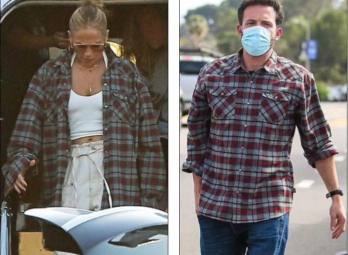 Jennifer Lopez wears Ben Affleck shirt