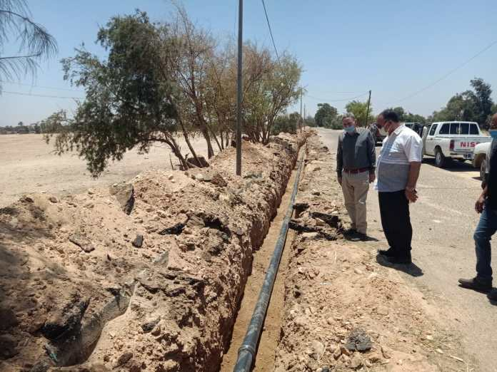 The assistant secretary inspects the projects of a decent life in Abnoub Center (6)