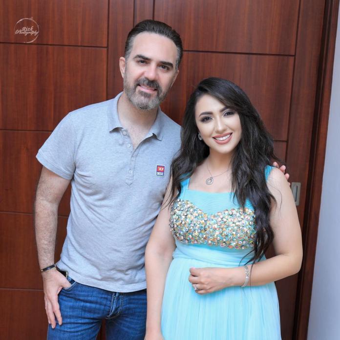 Wael Jassar with Aya Abdullah