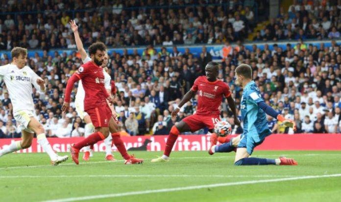 Mohamed Salah the moment he scored the goal