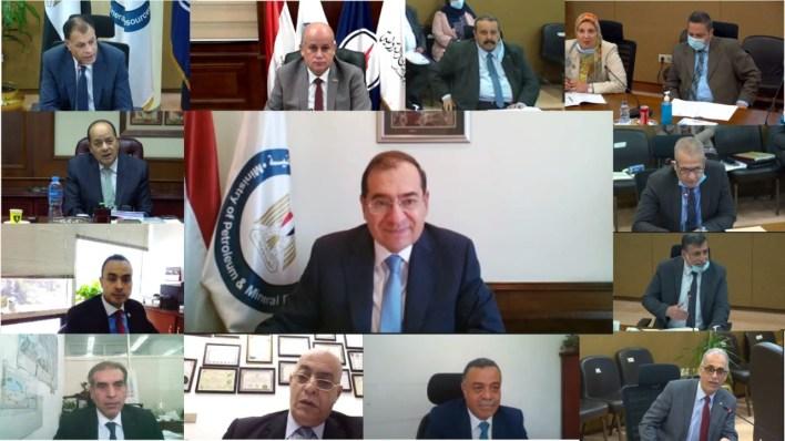 المهندس طارق الملا وزير البترول والثروة المعدنية خلال جمعية شركة بتروجاس