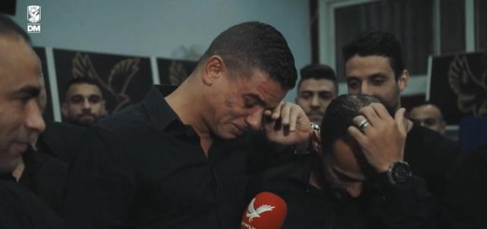 Saad Samir cries in farewell to Al-Ahly (4)