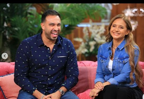 Nelly Karim and Hisham Ashour in the program with you