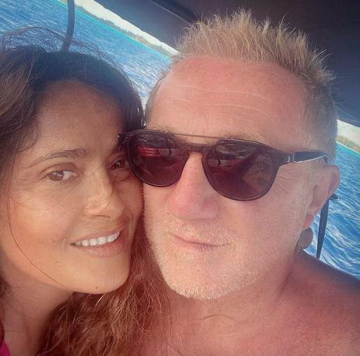Salma Hayek and her husband