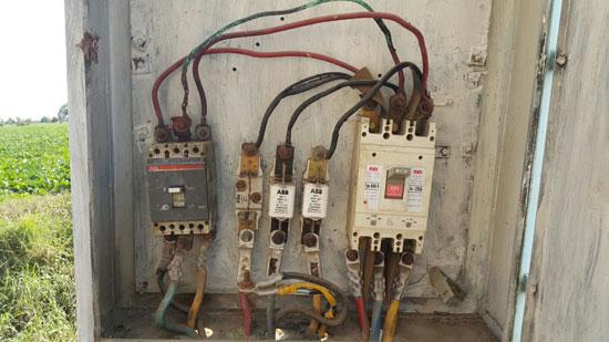 صحافة المواطن ، سرقة الكهرباء ، محافظة الدقهلية ، اسلاك كهربائية ، مركز بلقاس،  (1)