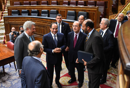 الرئيس السيسى يستمع لشرح رئيس مجلس النواب ورؤساء المجموعات البرلمانية -اليوم السابع -5 -2015