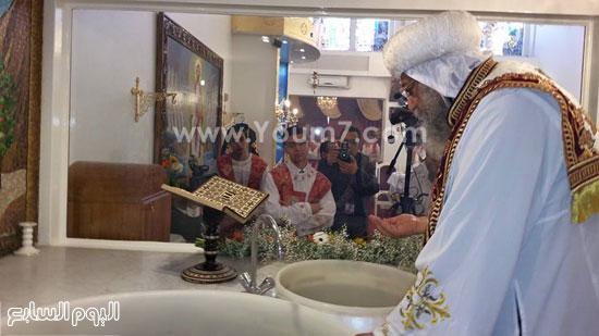 قداسة البابا خلا ل تدشينه المعمودية  -اليوم السابع -5 -2015