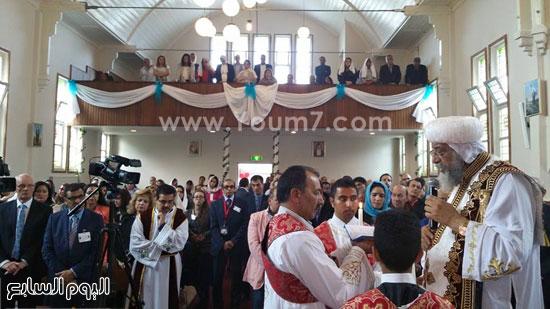 البابا تواضروس يقدم عظة القداس بكنيسة العذراء مريم و الأنبا أرسانيوس ببلدية كابيلا -اليوم السابع -5 -2015