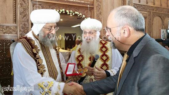 البابا تواضروس وعدد من قيادات الكنيسة والرموز القبطية بالمقاطعة  -اليوم السابع -5 -2015