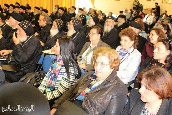 جانب من الحضور بمؤتمر كهنة أوروبا -اليوم السابع -5 -2015