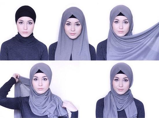 نتيجة بحث الصور عن لفات حجاب 2019 بالخطوات