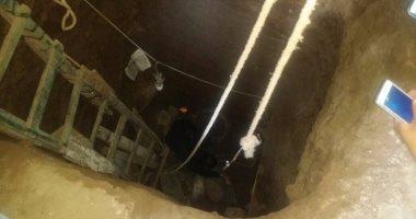 العثور على شواهد مقبرة أثرية أسفل منزل مواطن بدهشور
