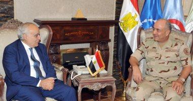 الفريق محمود حجازى يلتقى غسان سلامة المبعوث الأممى لدى ليبيا