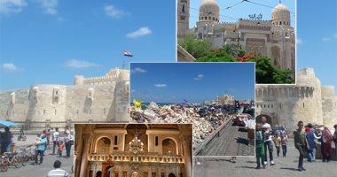 صور أهم مزارات السياحة الدينية بالإسكندرية المرسى أبو