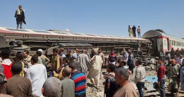 الصحة: آخر إحصائية لحادث قطارى سوهاج 91 مصابًا و32 حالة وفاة