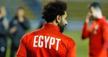 محمد صلاح ينشر صورة له من تدريبات منتخب مصر استعدادا لمواجهة جزر القمر غدا