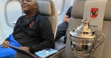 موسيماني فى صورة بجانب كأس السوبر الأفريقي: بعد العمل يأتى الرضا