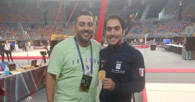 علي زهران: توقعت الفوز بذهبية كأس العالم للجمباز.. فيديو