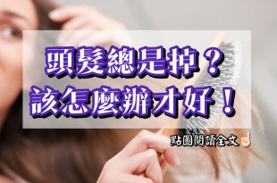 頭髮總是掉?該怎麼辦才好!-台灣養生網