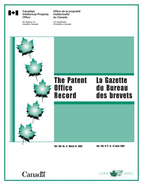 publications du gouvernement du canada