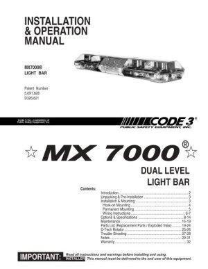 MX 7000 Installation Guide  Code 3