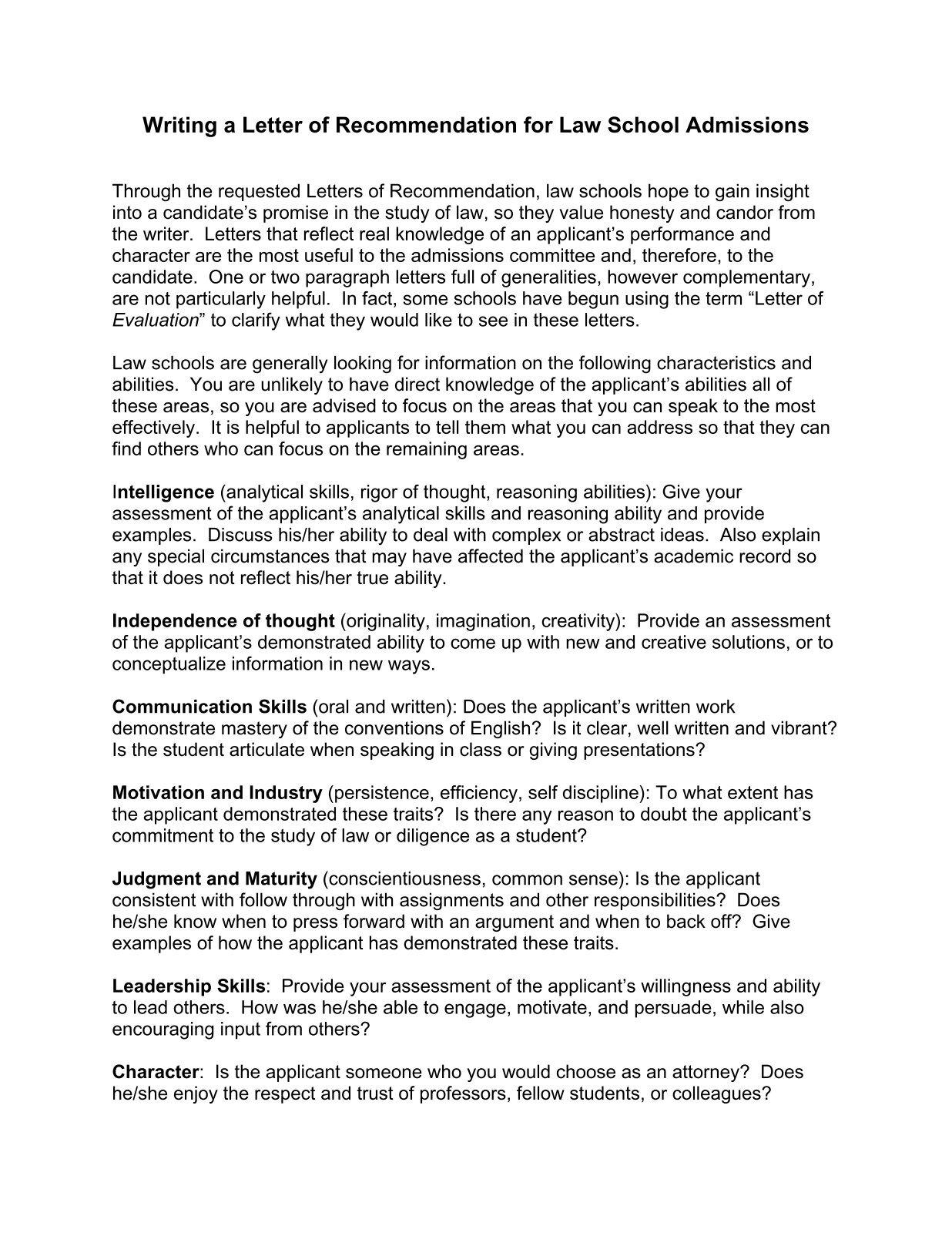 Law School Resume Writing Service