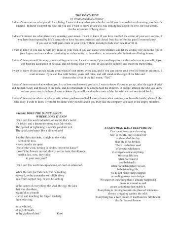 the invitation oriah mountain dreamer pdf Invitationjpgcom