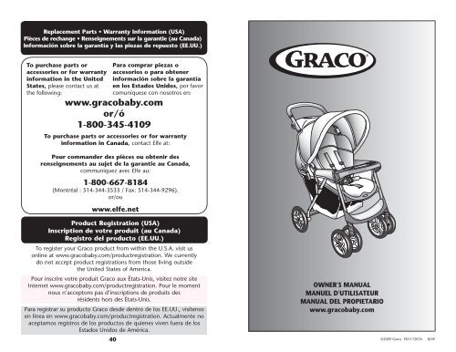 Www Gracobaby Com Or ó 1 800 345 4109