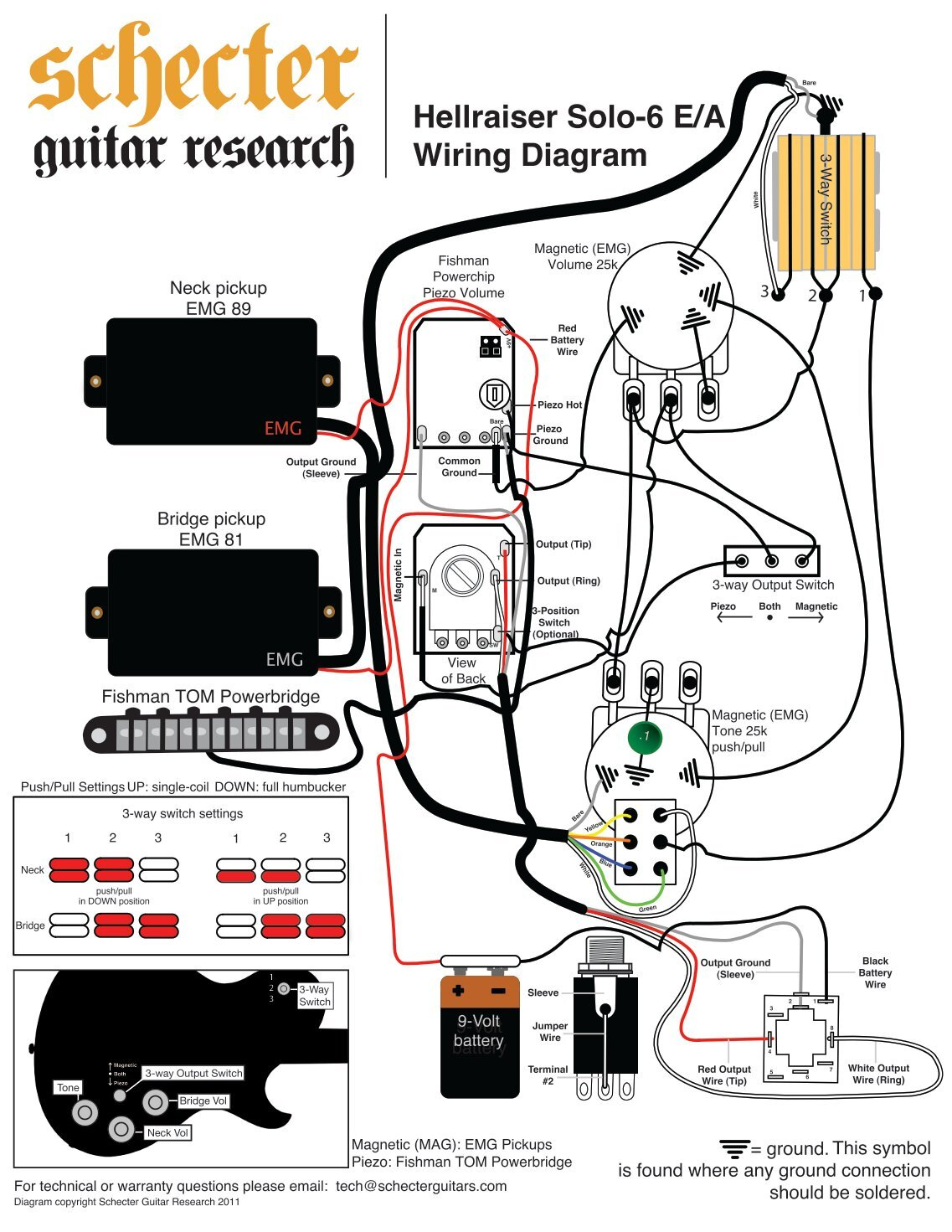 5 Way Switch Wiring Diagram Schecter Guitars Fuse Ibanez Humbucker Library Rh Evevo Co