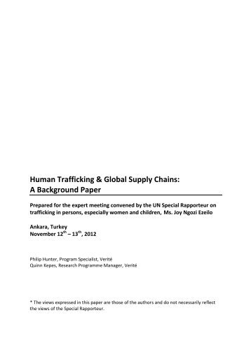 role of america in human trafficking essay Reaction paper in human trafficking essays and human trafficing human trafficing plays a big role may 2014 human trafficking many people in america are.