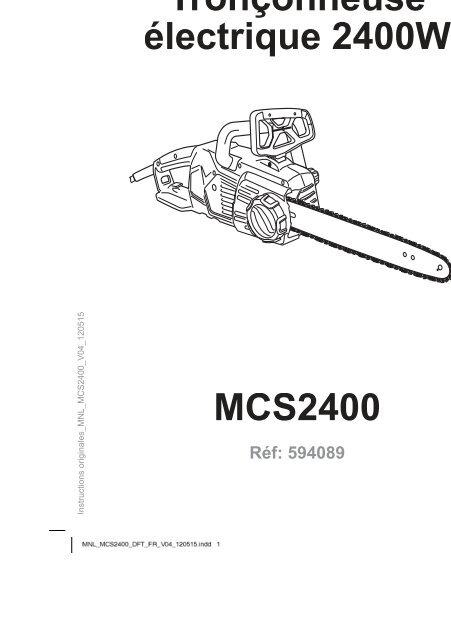 Mcs2400 Tronconneuse Electrique 2400w Castorama