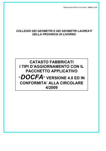 Manuale Pratico Docfa Livorno Associazionegeometrielbani