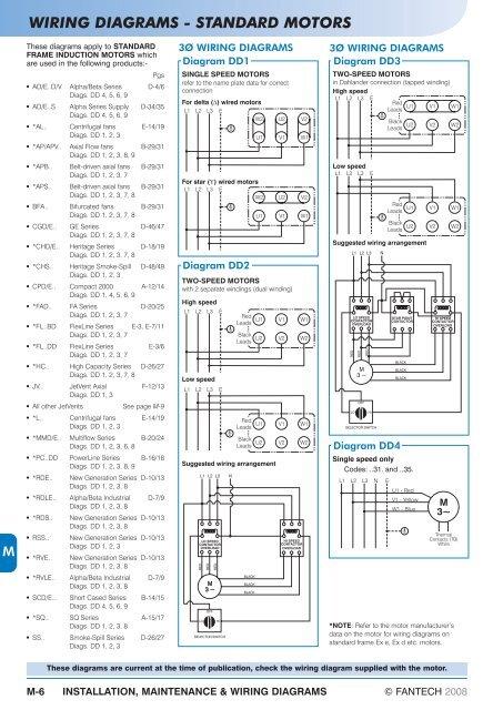 wiring diagrams  standard motors  fantech