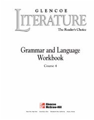 Grammar and Language Workbook Part 1 Grammar Glencoe