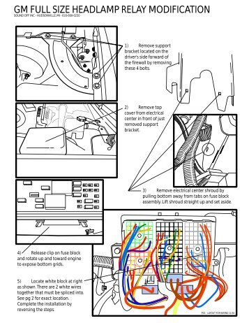 gm full size headlamp relay modification galls galls st160 wiring diagram galls switch box wiring diagram 30 Amp RV Wiring Diagram at creativeand.co
