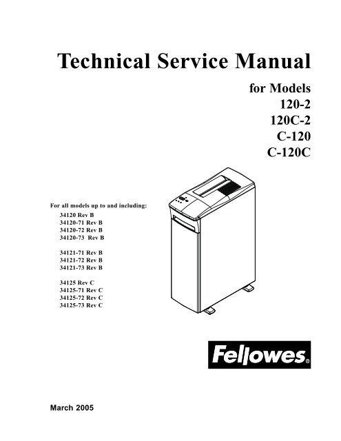 120 2 120c Technical Service Manual