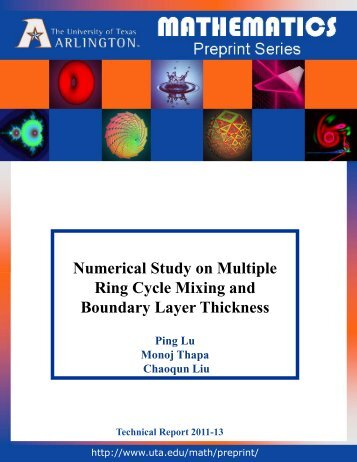Numerical Study of Passive and Active Flow Separation ...