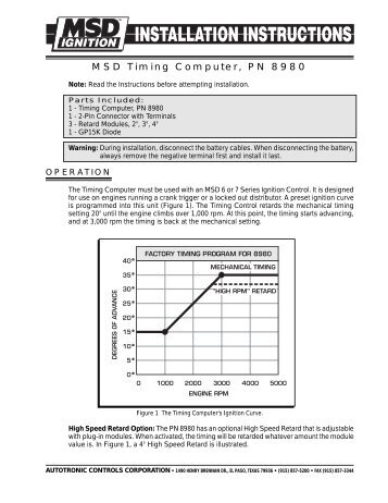 MSD Pro Mag Timing Control  MSD ProMag