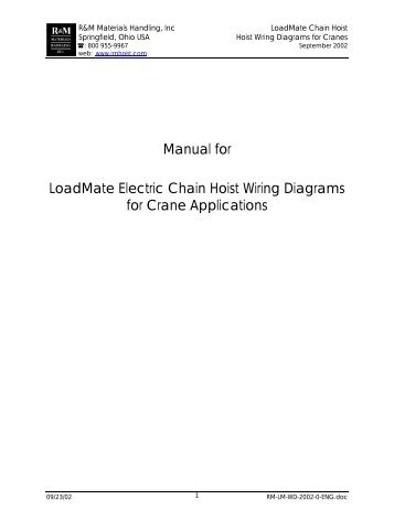 manual for loadmate hoist wiring diagrams for crane applications?resize=357%2C462&ssl=1 demag hoist wiring diagram wiring diagram Hyet Et1126 Hoist Motor Wiring at aneh.co