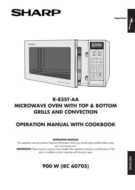 r 85st aa operation manual gb sharp
