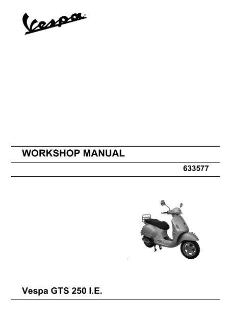 Work Manual Vespa Gts 250 I E