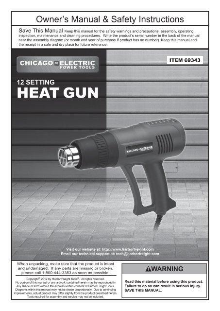 heat gun harbor freight tools