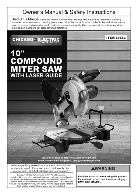 Miter Saw Harbor Freight Tools